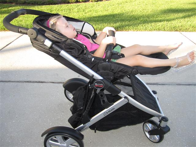"Britax B-Ready in ""Nap Mode"""