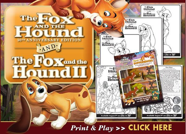 Fox And The Hound Coloring Page - Coloring Home | 434x601