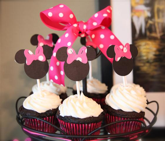 Minnie Mickey Mouse Birthday Party Decorations Cake Ears