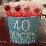 DIY 30th, 40th or 50th Birthday Gift