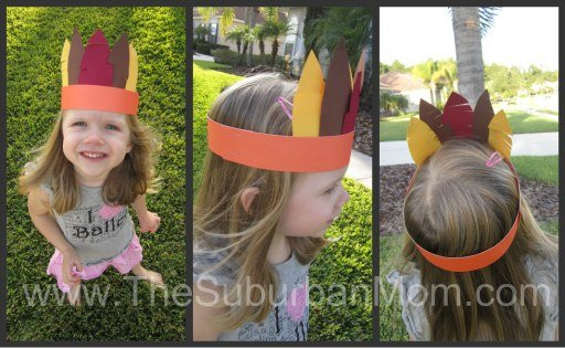 Thanksgiving Crown Kid Craft