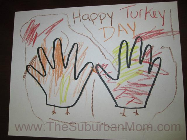 Thanksgiving Hand Print Craft