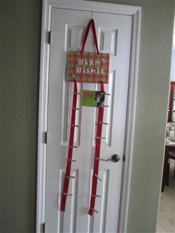 christmas card over the door hanger chrismast cards ideas