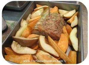 Pork Roast Sweet Potatoes Pears Rosemary