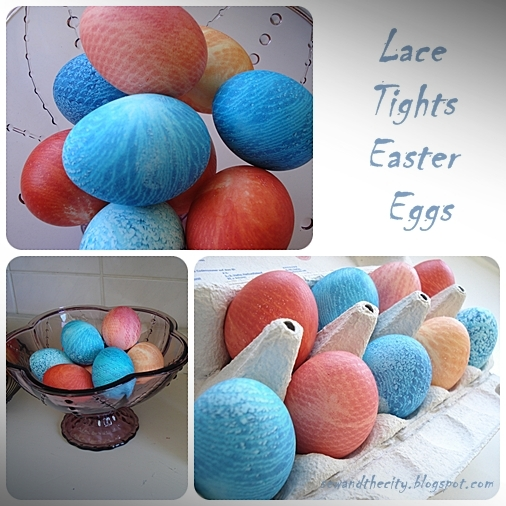 Lace Tights Easter Eggs