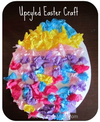 Easter Egg Kids Upcycle Recycle Craft