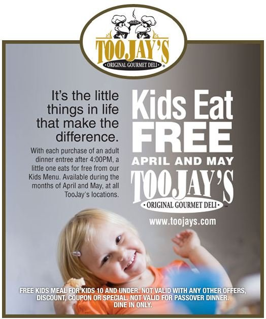 TooJay;s Kids Eat Free