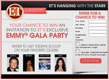 ET's Hang With The Stars Sweepstakes