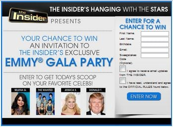 Insider Hang with Stars Sweepstakes