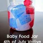 4th Of July Baby Food Jar Votive Candle Holders ~ Kid's Craft