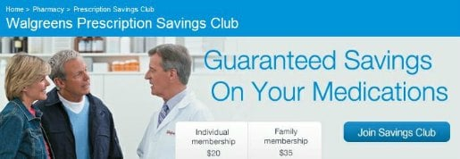 Walgreens Prescription Savings Club
