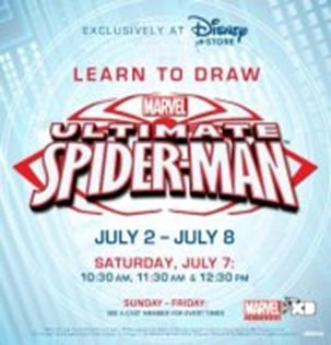 Disney Store Learn to Draw Spider Man Marvel Event