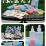 Homemade Sidewalk Chalk Paint (Way Fun!)