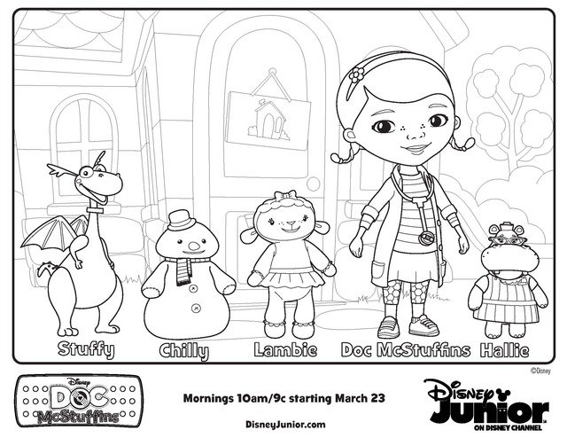 Doc Mcstuffins Coloring Pages Disney Junior : Free printable coloring pages doc mcstuffins