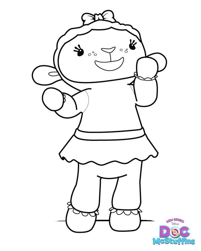 Doc McStuffins Docs In Door Sign Big Book Of Boo Boos Coloring