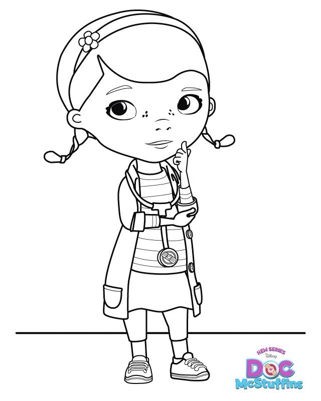 Doc Mcstuffins Coloring Pages Disney Junior : Doc mcstuffins s in door sign big book of boo boos