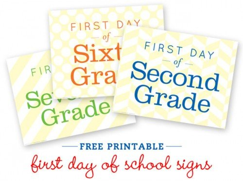 Ambitious image within first day of school sign free printable