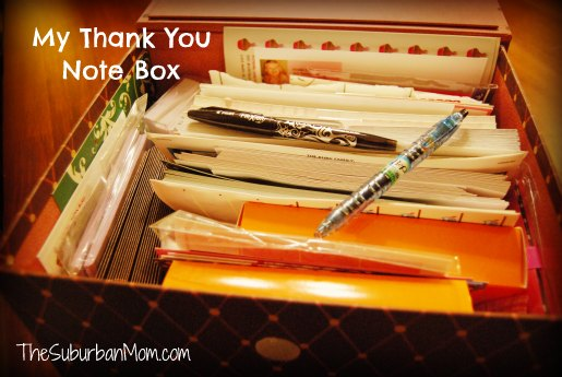 Thank You Note Box