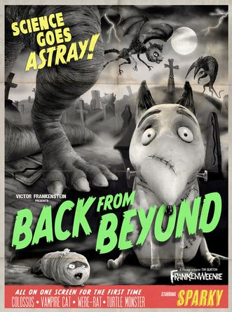 Frankenweenie Horror Movie Poster Spoof Disney Tim Burton