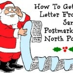 How to get a letter from Santa Postmarked North Pole DIY Free Template