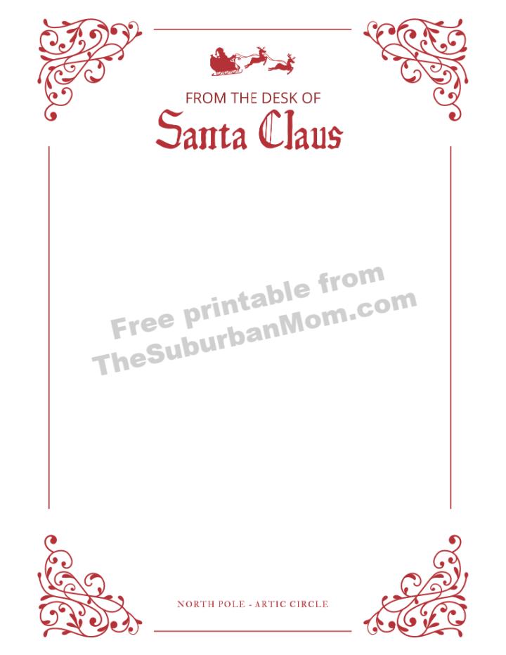 Santa Claus Letterhead Free Printable