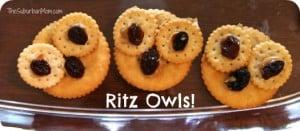 Owl Ritz Crackers Snack