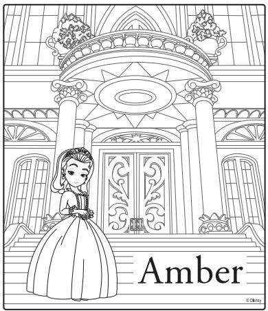 Sofia The First Coloring Page Amber Disney Junior