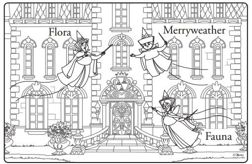 sofia the first coloring page flora fauna merryweather - Sofia Coloring Pages
