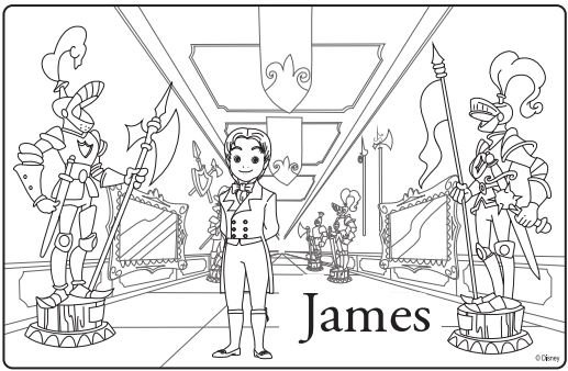 sofia the first coloring page james disney junior