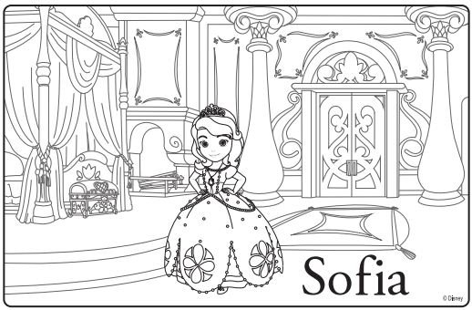sofia the first coloring page disney junior princess