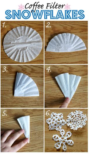 Coffee Filter Paper Snowflake Tutorial