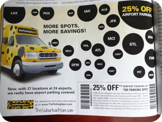 Parking spot discount coupon