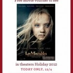 Free Ticket To See Les Miserables From Banana Republic