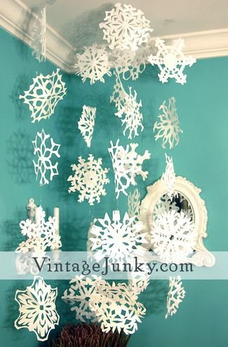paper snowflake template
