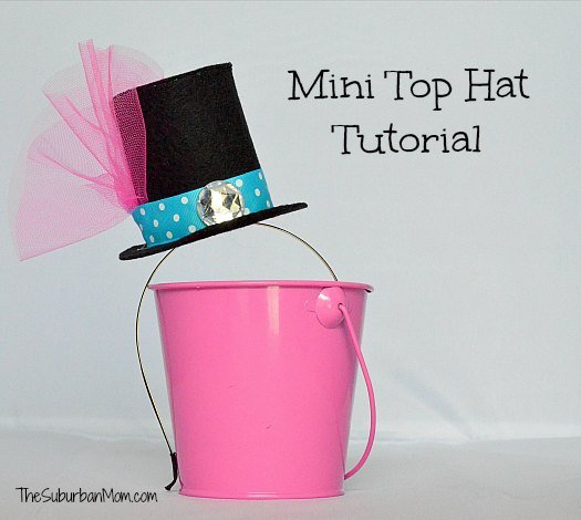 How To Make A Mad Hatter Mini Top Hat ~ Tutorial - TheSuburbanMom
