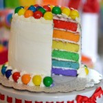 Rainbow Birthday Party Cake, Food & Decoration Ideas