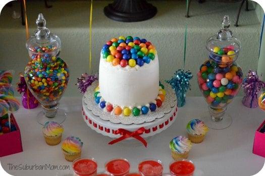 Birthday Cake Decorations For Seniors : Rainbow Birthday Party Cake, Food & Decoration Ideas ...