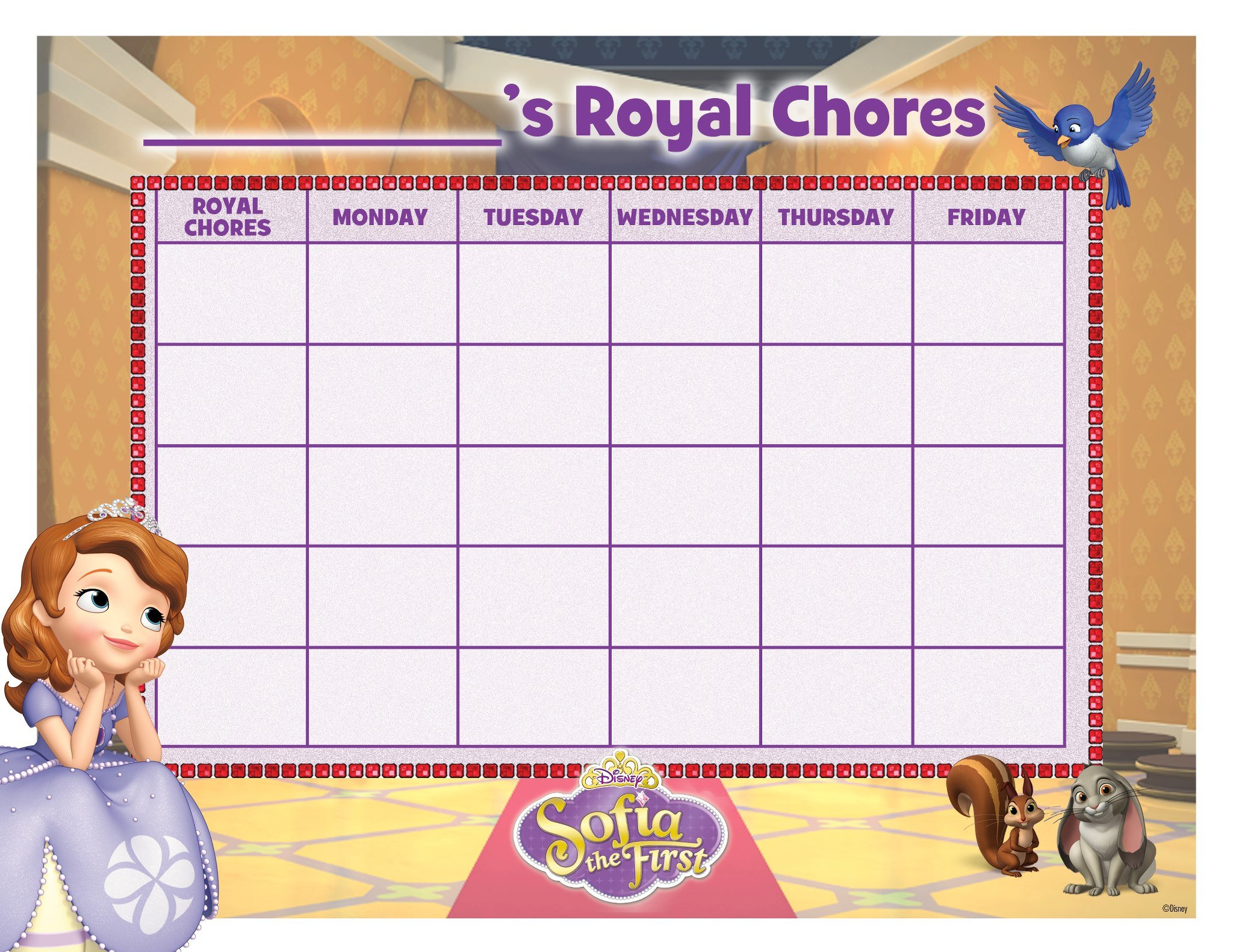 Wonderful Free Printable Sofia the First Chore Chart 2048 x 1582 · 630 kB · jpeg