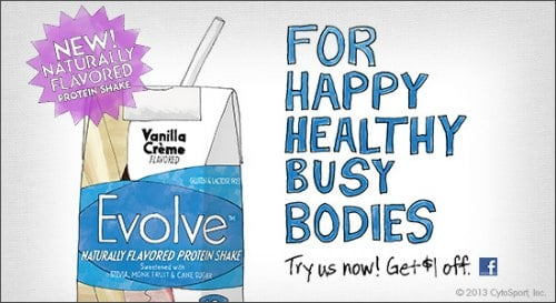 Evolve Protein Drink Coupon