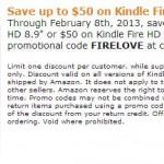 Save 50 Kindle Fire Amazon