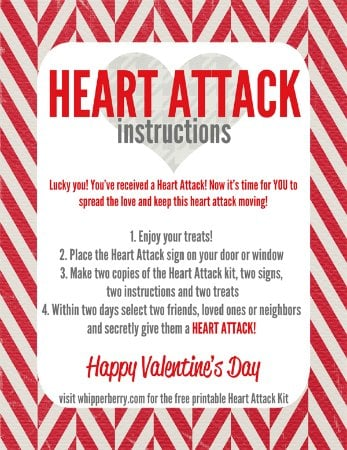 Valentine's Day Free Printable Heart-Attack-Instructions