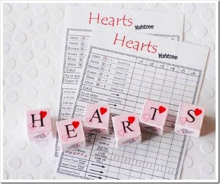Valentine's Day Printable Yahtzee