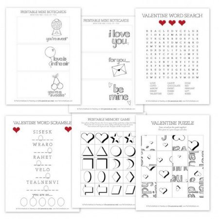 free-valentines-day-printables Kids Activities