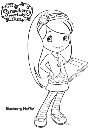 12 Strawberry Shortcake Birthday Party Printable Coloring Pages ...