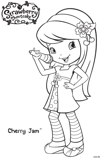 Strawberry Shortcake Coloring Pages Cherry Jam
