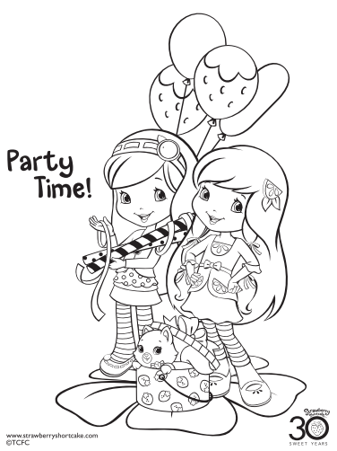 Strawberry Shortcake Coloring Page Party