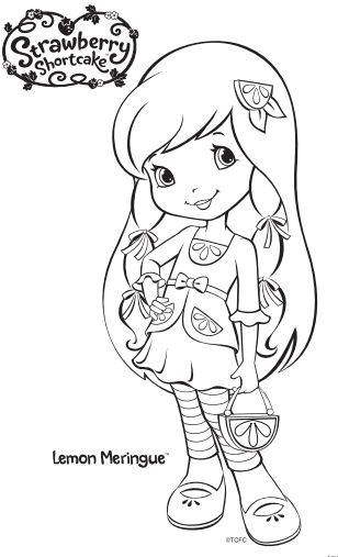 strawberry shortcake coloring pages characters - photo#37