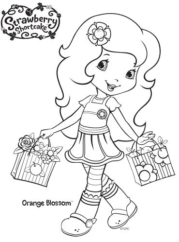 12 Strawberry Shortcake Birthday Party Printable Coloring ...
