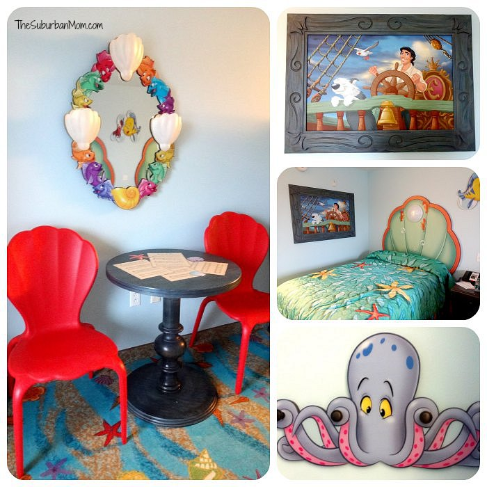 Art of Animation Little Mermaid Room Details