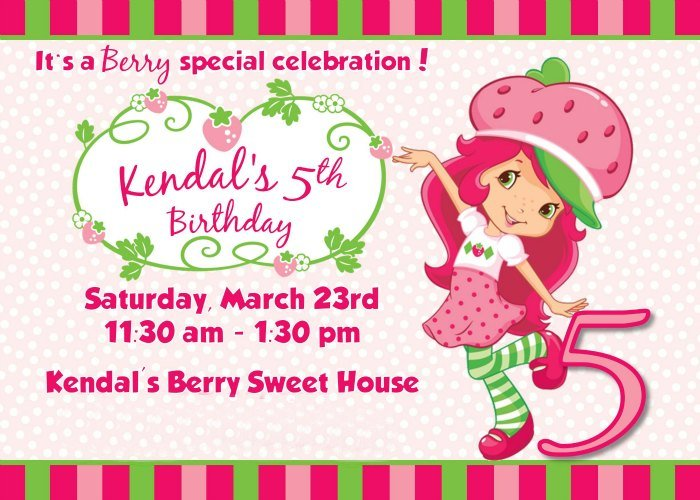 strawberry shortcake birthday party deserts, printables  ideas, Birthday invitations